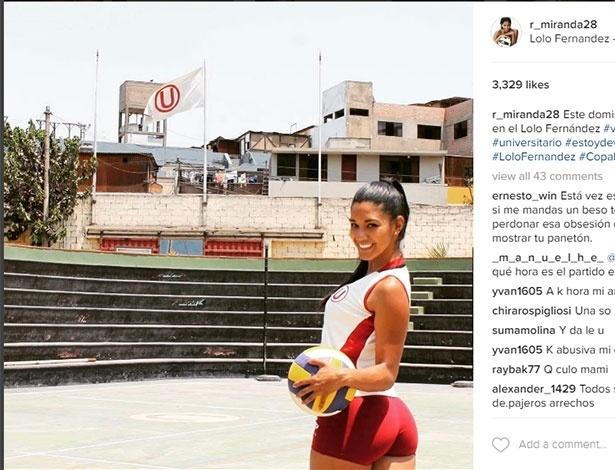 Rocio Miranda joga pelo Universitario