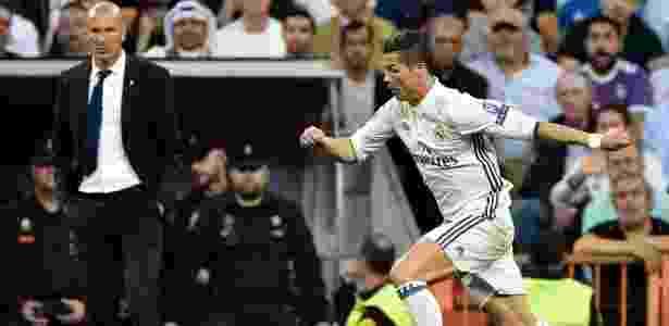 Todos sabem quem é o cobrador de faltas e pênaltis no Real Madrid: Cristiano Ronaldo - AFP