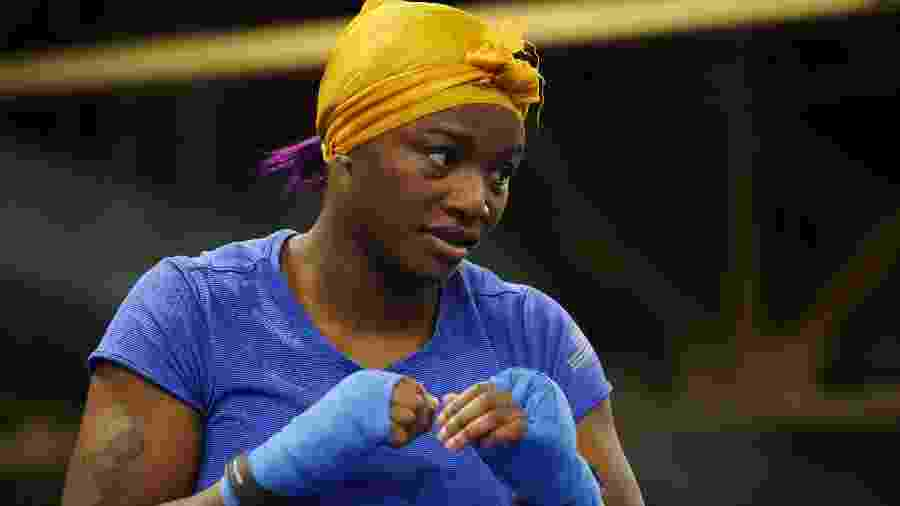 Bicampeã olímpica, a norte-americana Claressa Shields treina boxe em Detroit - Gregory Shamus/Getty Images