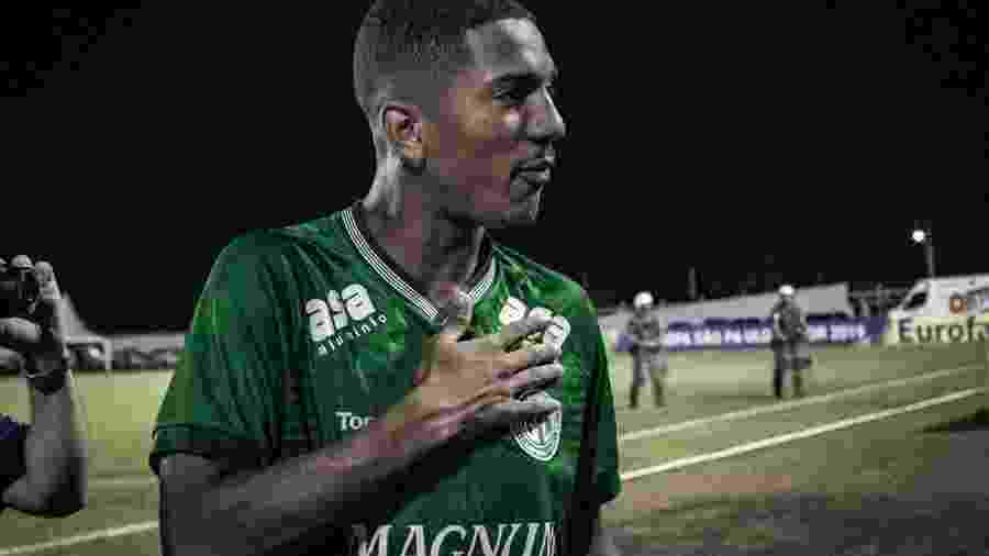 Davó comemora gol do Guarani na Copinha 2019, quando anotou quatro gols em um jogo contra o Inter - Letícia Martins/Guarani Futebol Clube