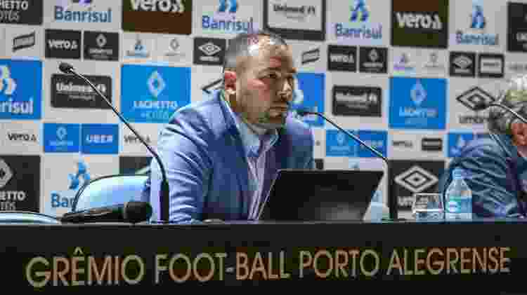 Carlos Amodeo é gerente geral do Grêmio desde junho de 2017 e não tem mais contato direto com Renato - Lucas Uebel/Grêmio FBPA