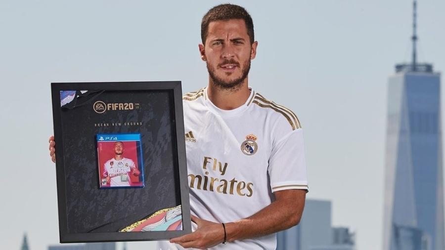 Eden Hazard estampa a capa do game FIFA 20 - reprodução/Instagram