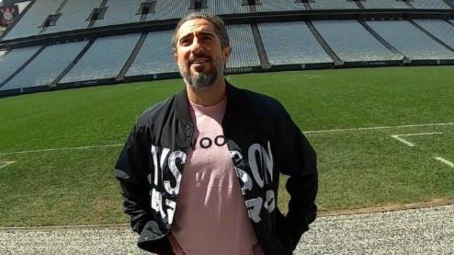 Apresentador da Record TV fez visita ao estádio do clube paulista durante a semana e projeto saiu do papel - Reprodução/IGTV