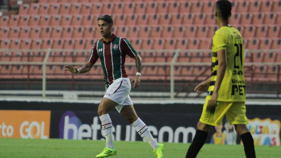 Luan Freitas comemora gol do Fluminense contra o Vilhenense pela Copinha - LUCIANO CLAUDINO/CÓDIGO19/ESTADÃO CONTEÚDO