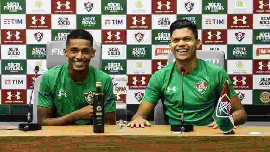 Marcos Paulo e Evanilson, crias da base do Fluminense, foram protagonistas contra o Unión La Calera - Lucas Merçon / Fluminense F.C.
