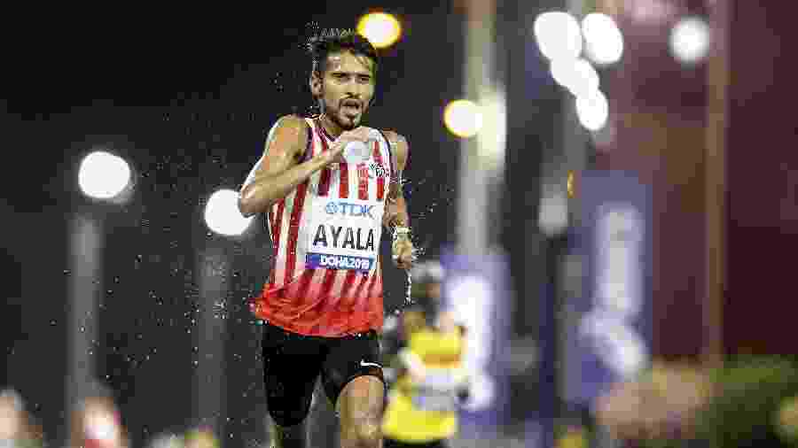 06.10.2019 - O maratonista Derlys Ayala, do Paraguai, em competição no Qatar - Anadolu Agency via Getty Images