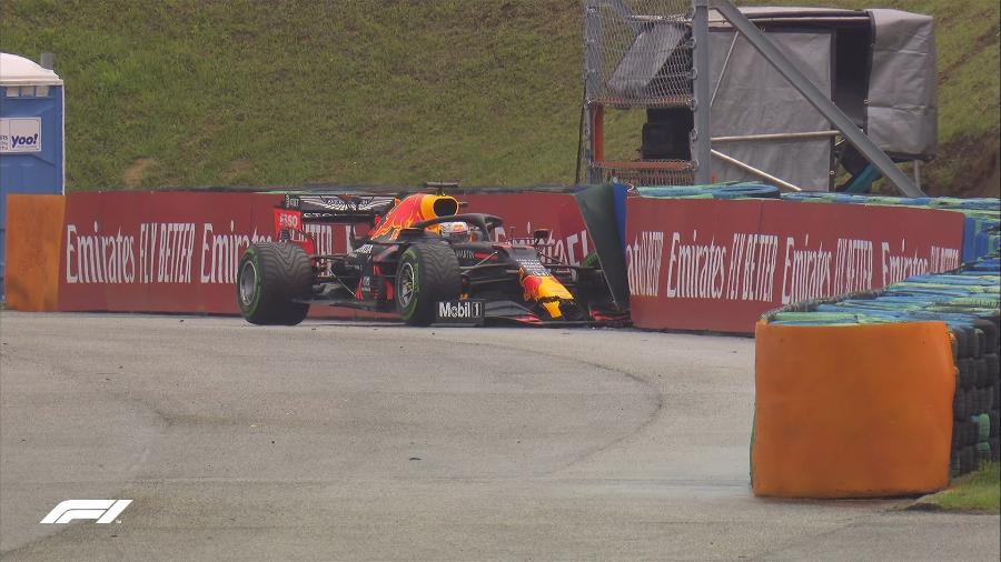 Max Verstappen bate o carro minutos antes do início do GP da Hungria - F1/Divulgação