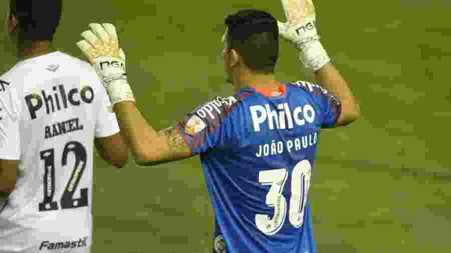 Goleiro João Paulo fez sua estreia em Libertadores pelo Santos contra o Olimpia (PAR) - Ivan Storti/Santos FC