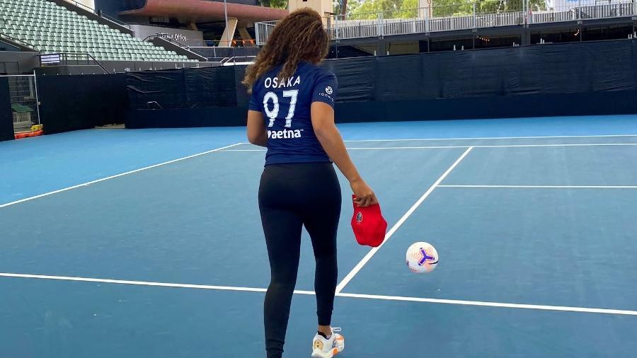 A tenista Naomi Osaka comprou a equipe de futebol feminino North Carolina Courage, dos EUA - Reprodução/Twitter/Naomi Osaka