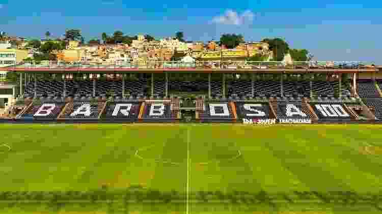 Vasco exibiu mosaico no setor social de São Januário homenageando o centenário de Barbosa - Divulgação / Twitter do Vasco - Divulgação / Twitter do Vasco