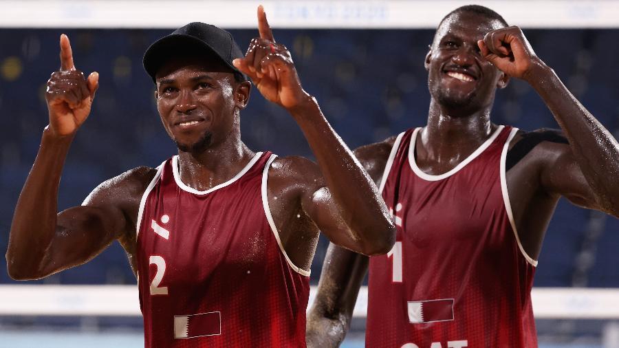 Cherif Younousse e Ahmed Tijan conquistaram o bronze no vôlei de praia nas Olimpíadas - Sean M. Haffey/Getty Images