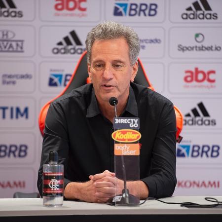 Rodolfo Landim, presidente do Flamengo, concede entrevista no Ninho do Urubu - Alexandre Vidal/Flamengo