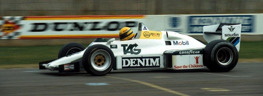 Primeiro teste de Senna na Fórmula 1, com a Williams, em 1983
