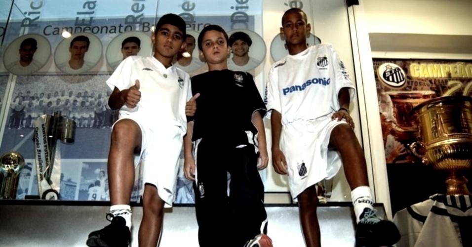 Gabriel, Jean Chera e Neymar eram as grandes promessas da base santista