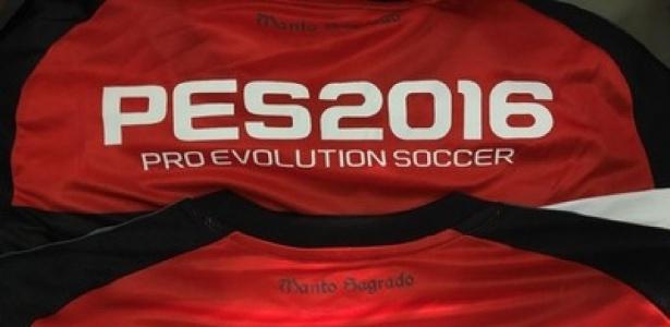 O Flamengo vai estampar a marca do game PES 2016 na camisa do time profissional - Divulgação/ Flamengo