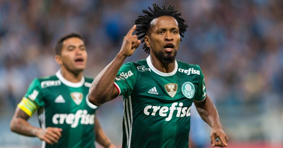 Zé Roberto marca para o Palmeiras contra o Grêmio