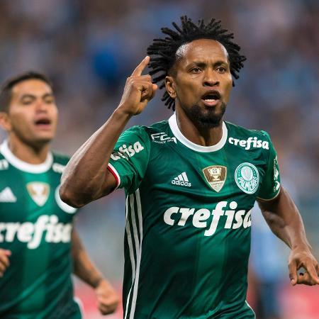 Zé Roberto em ação pelo Palmeiras de 2016 - Jeferson Guareze/AGIF