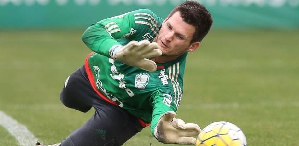 Vagner terminou o ano de 2016 como o quarto goleiro do elenco palmeirense