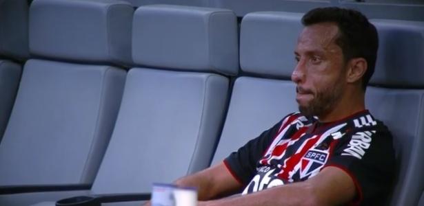 Nenê foi substituído aos 19 minutos do segundo tempo no jogo contra o Cruzeiro - Reprodução