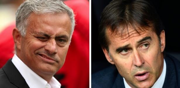 Mourinho e Lopetegui vivem momentos ruins no Manchester United e Real Madrid