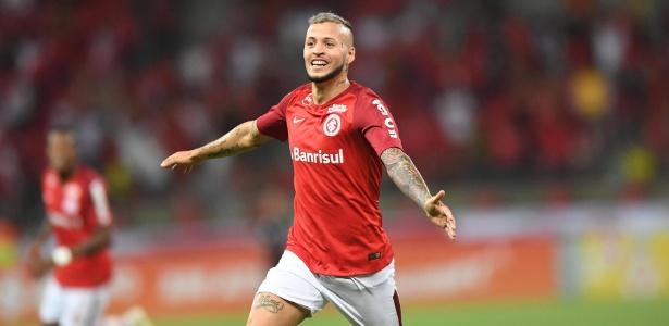 Nico López comemora gol do Internacional sobre o Fluminense no Beira-Rio - Ricardo Duarte/Inter