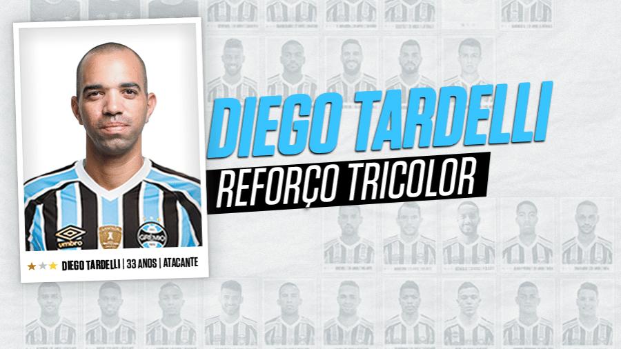 Grêmio anuncia Diego Tardelli em contrato de três anos - Reprodução
