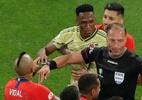 VAR incomoda Chile e Colômbia em jogo decisivo na Arena Corinthians - REUTERS/Amanda Perobelli