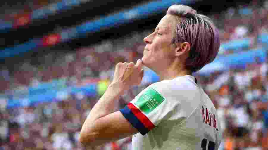 Megan Rapinoe, atacante dos Estados Unidos, em ação pela Copa do Mundo feminina - Denis Balibouse/Reuters