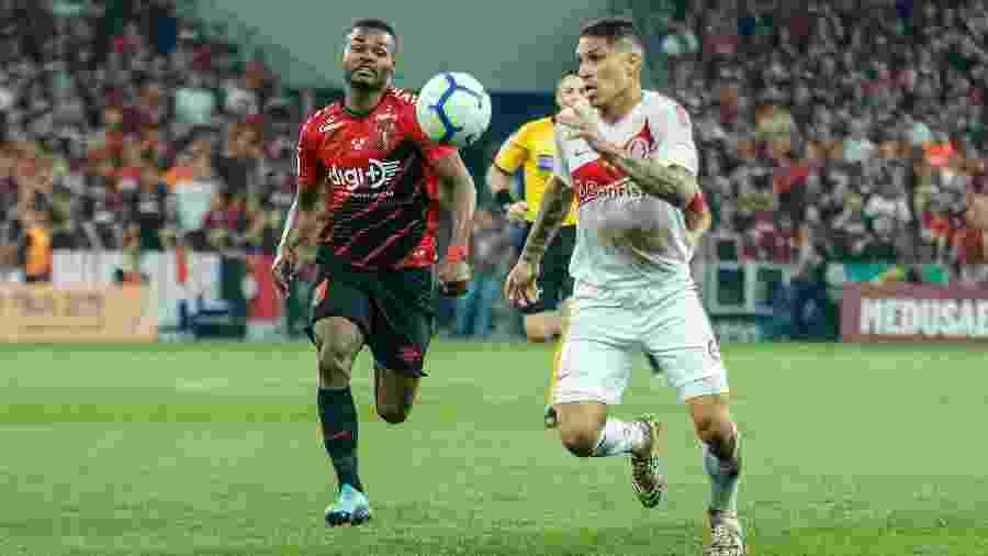 Guerrero, durante partida entre Athletico e Internacional - Gabriel Machado/AGIF