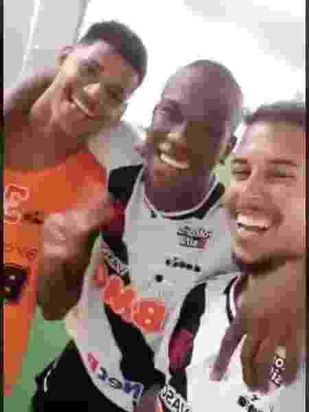 """Marrony, Ribamar e Marcos Júnior: a """"Tropa do Ainda"""" do Vasco da Gama - Reprodução / Twitter Vasco"""