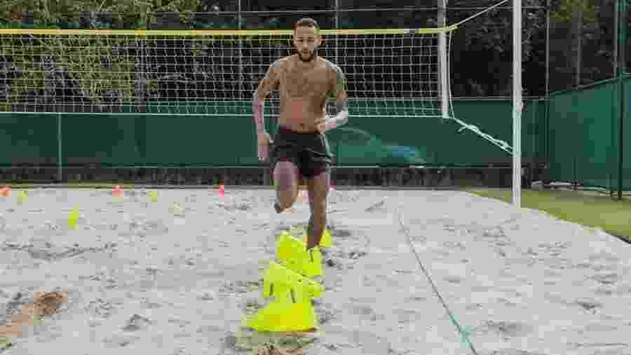 Neymar treinando em quarentena - Reprodução/Instagram