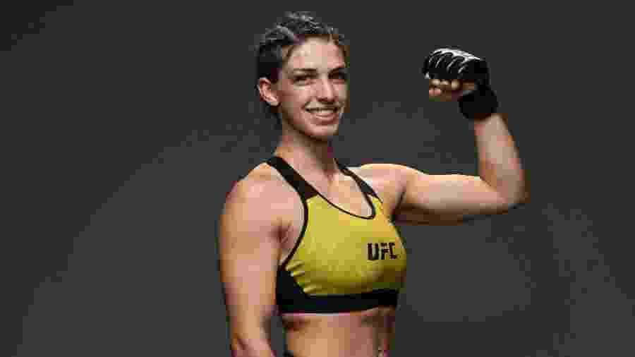 Mackenzie Dern posa antes da UFC Fight Night em maio de 2020, em Las Vegas. Foi sua última luta antes de hoje (19) - Mike Roach/Zuffa LLC via Getty Images