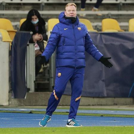 O técnico do Barcelona, Ronald Koeman - Valentyn Ogirenko/Reuters