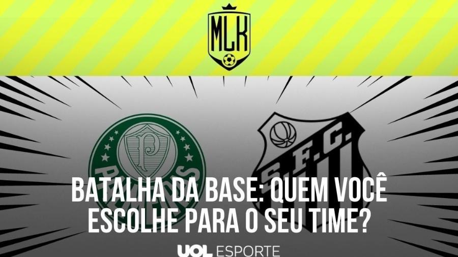 Palmeiras e Santos se enfrentam hoje pelo Campeonato Paulista - Arte/UOL