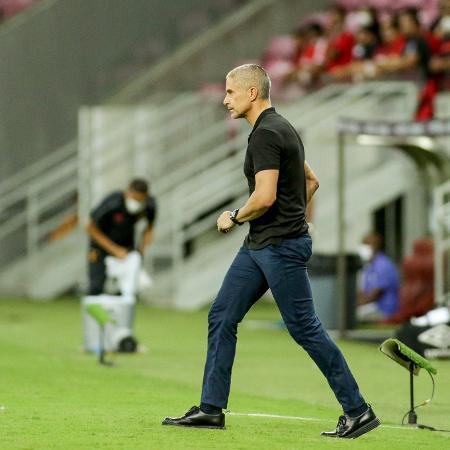 Sylvinho, técnico do Corinthians, durante duelo com o Sport, pelo Campeonato Brasileiro - Rodrigo coca / Ag. Corinthians