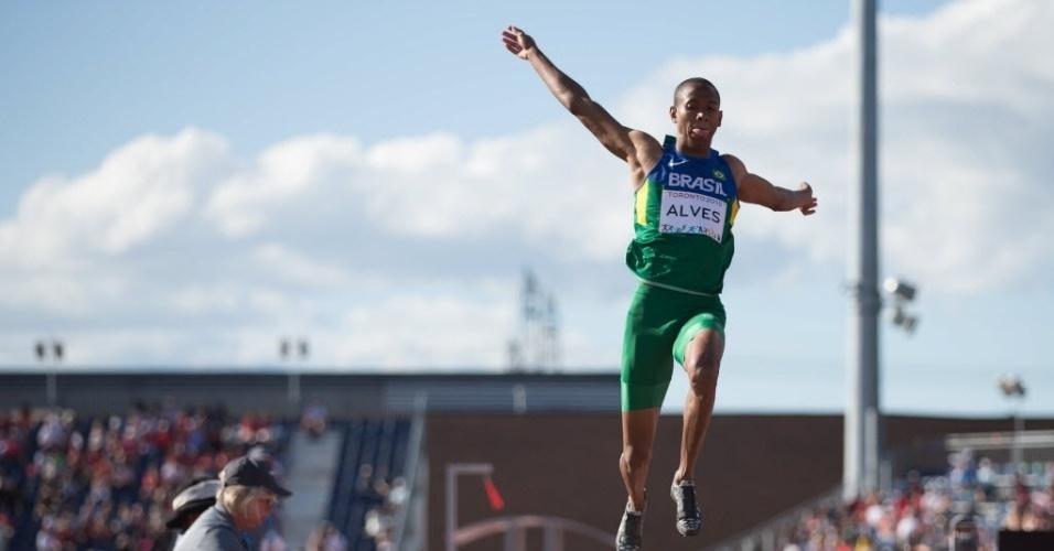 Higor Alves voa no salto em distância dos jogos Pan Americanos de Toronto