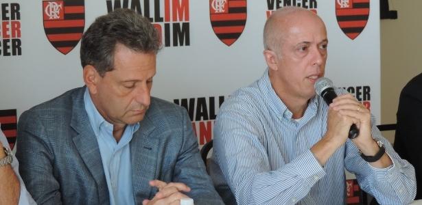 Wallim Vasconcellos (d) será o vice-presidente de finanças na gestão Rodolfo Landim (e) - Pedro Ivo Almeida/UOL