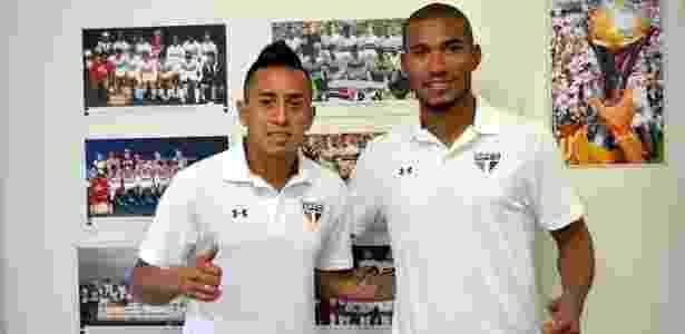 Getterson (à direita) teve contratação cancelada pelo São Paulo - Juca Pacheco / saopaulofc.net