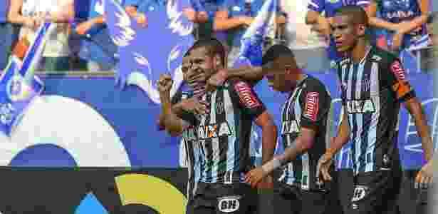 Clayton comemora terceiro gol dele pelo Atlético-MG em clássicos, o primeiro contra o Cruzeiro - Bruno Cantini/Clube Atlético Mineiro