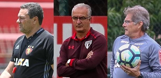 Sport, de Luxemburgo, São Paulo, de Dorival, e Atlético-MG, de Oswaldo, têm decisões