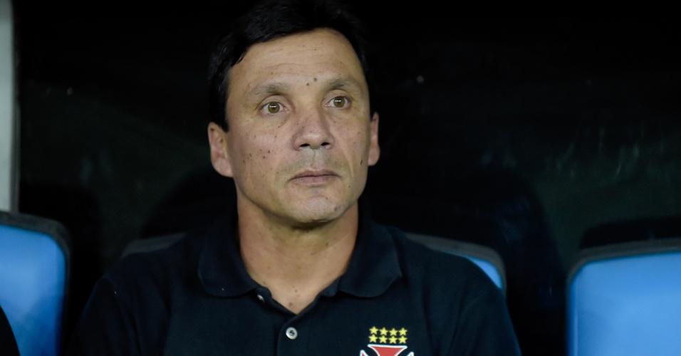O técnico Zé Ricardo durante o jogo entre Fluminense e Vasco pelo Campeonato Carioca
