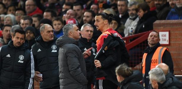 Ibrahimovic e Mourinho trabalharam juntos no Manchester United e foram campeões da Liga Europa da temporada 16-17 - Gareth Copley/Getty Images