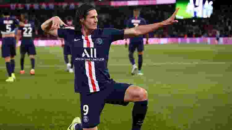 PSG venceu em estreia no Francês; Cavani abriu o placar - FRANCK FIFE/AFP - FRANCK FIFE/AFP