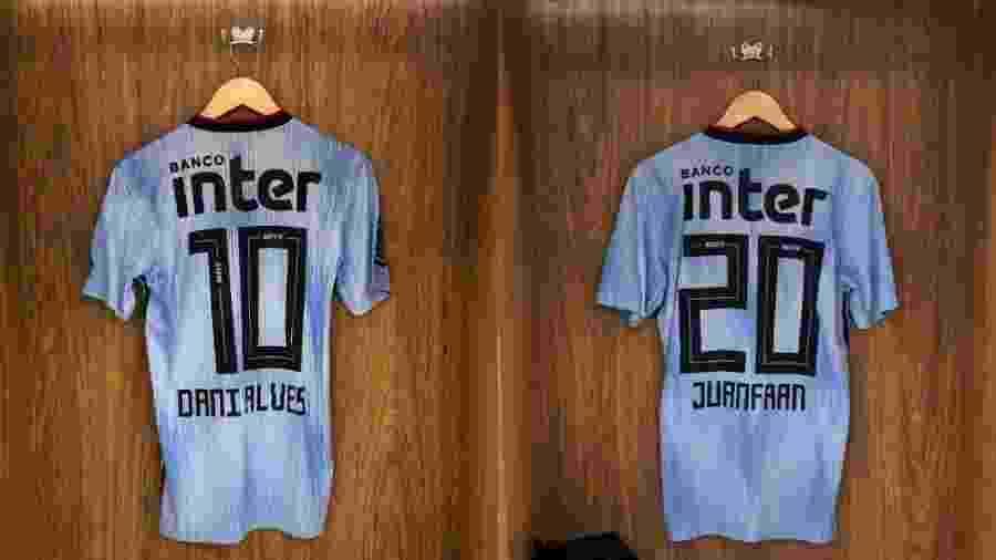 São Paulo mostra camisas de Daniel Alves e Juanfran no vestiário do Morumbi - divulgação/São Paulo FC