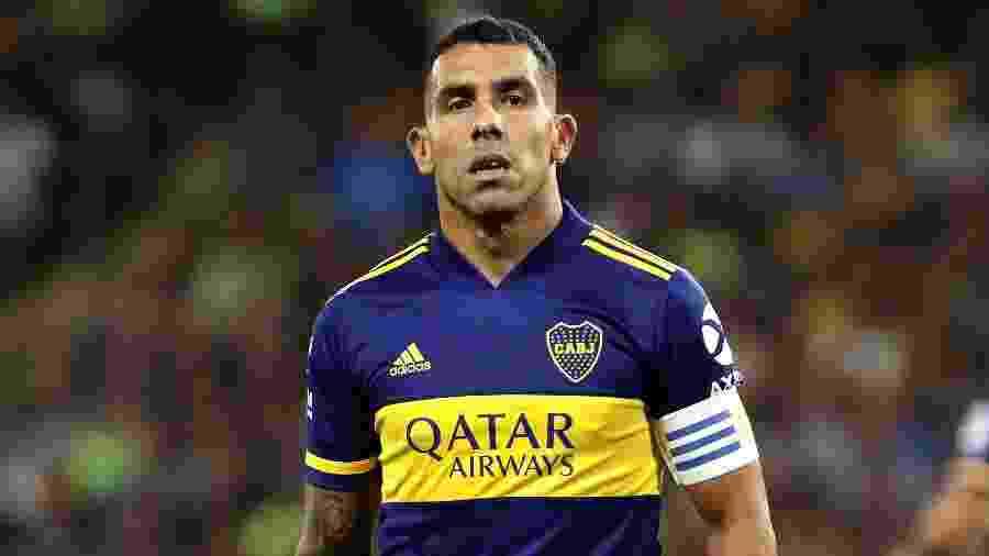 Carlos Tevez está perto de renovar com o Boca Juniors, informam jornais argentinos - ALEJANDRO PAGNI / AFP