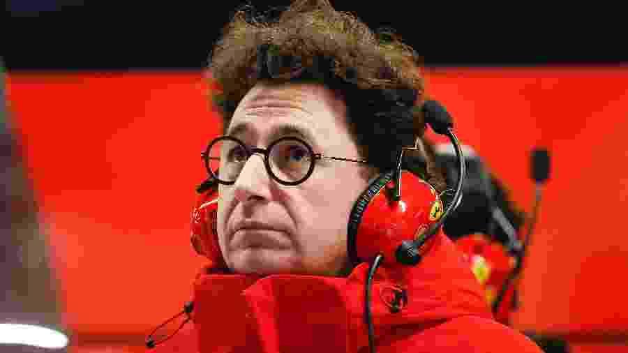 Mattia Binotto chefe de equipe da Ferrari acredita que a chegada de Carlos Sainz será benéfica para os objetivos da escuderia  - Eric Alonso/MB Media/Getty Images