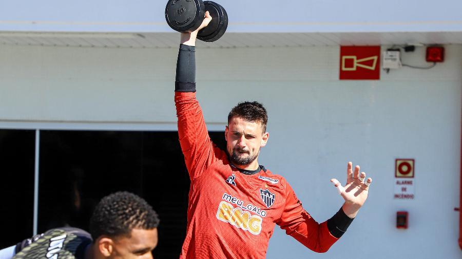 Michael, goleiro do Atlético-MG, será emprestado ao Paços de Ferreira, de Portugal, no mercado da bola - Pedro Souza/Atlético-MG