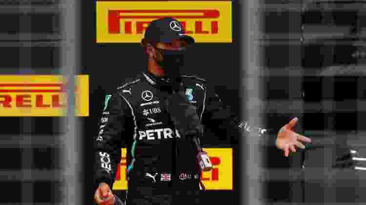Lewis Hamilton conquistou a pole position com a Mercedes no GP da Estíria - LEONHARD FOEGER / POOL / AFP - LEONHARD FOEGER / POOL / AFP