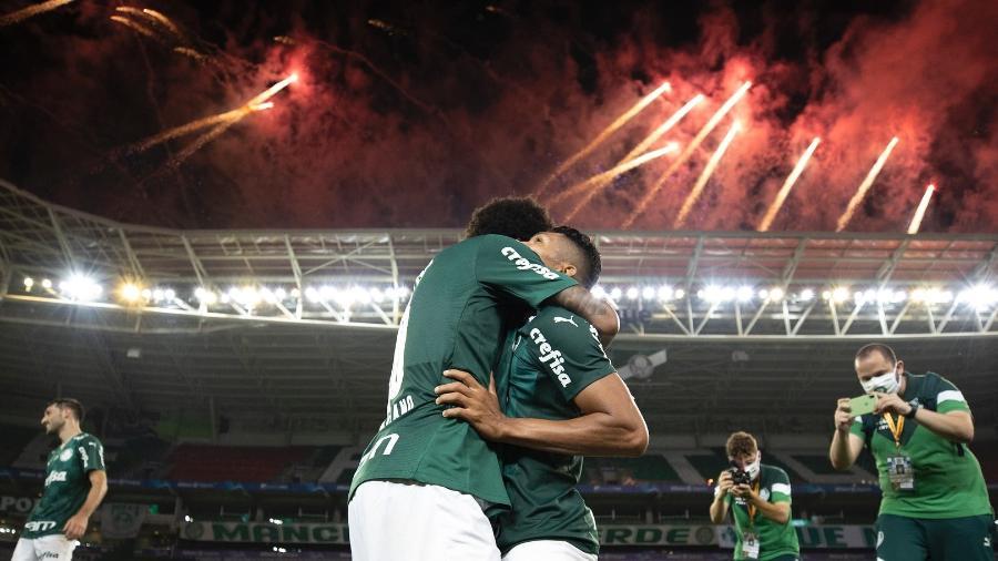 Jogadores do Palmeiras comemorando o título da Copa do Brasil 2020 - Lucas Figueiredo/CBF