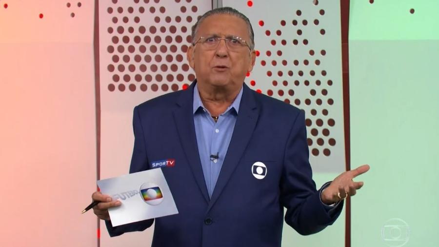 Galvão Bueno em seu retorno às transmissões da TV Globo após mais de um ano - Reprodução/TV Globo